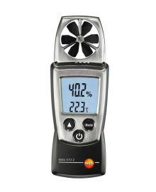 Testo 410-2 — Карманный анемометр с крыльчаткой и сенсором влажности